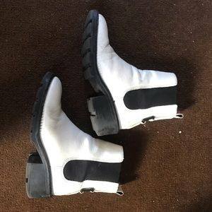 Kendall + Kylie white leather boots